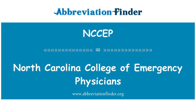 NCCEP: North Carolina College of Emergency Physicians