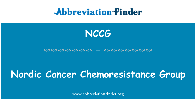 NCCG: Nordic Cancer Chemoresistance Group