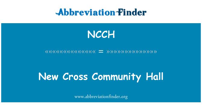 NCCH: New Cross Community Hall