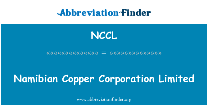 NCCL: Namiibia vask Corporation Limited