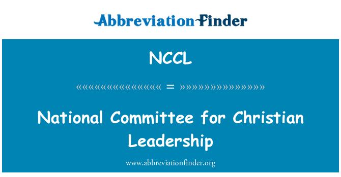 NCCL: 基督徒领导的国家委员会