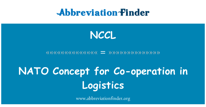 NCCL: 在物流合作的北约概念