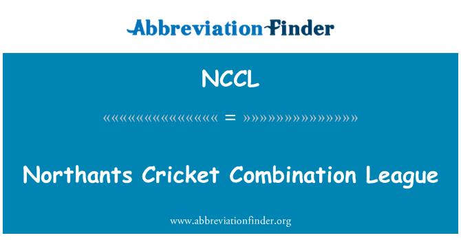 NCCL: Northants Cricket League combinazione