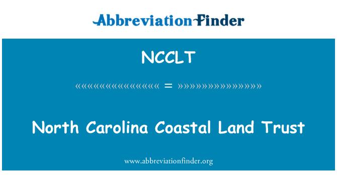 NCCLT: North Carolina Coastal Land Trust