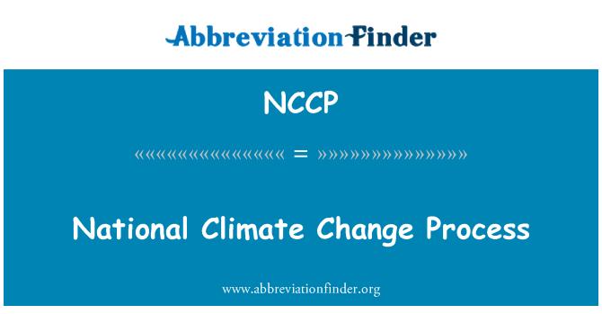 NCCP: Proceso de cambio climático