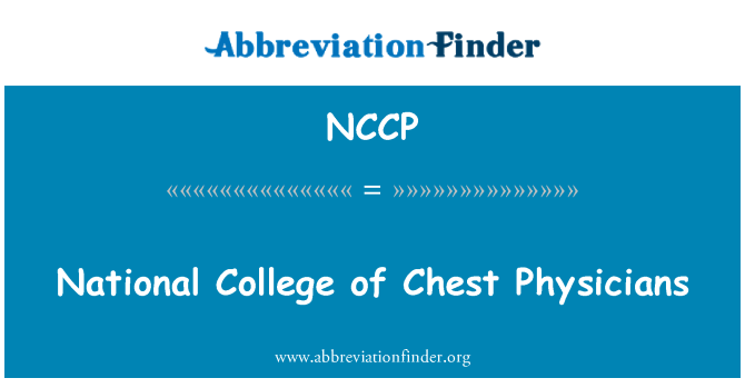 NCCP: National College of Chest Physicians