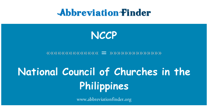 NCCP: National Council of Churches in the Philippines