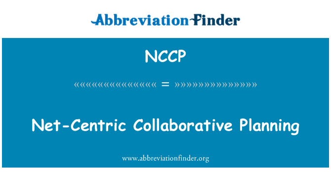 NCCP: Net-Centric Collaborative Planning