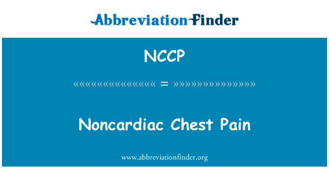 NCCP: Nekardiální hrudníka