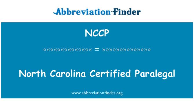 NCCP: Carolina del norte certificado Paralegal