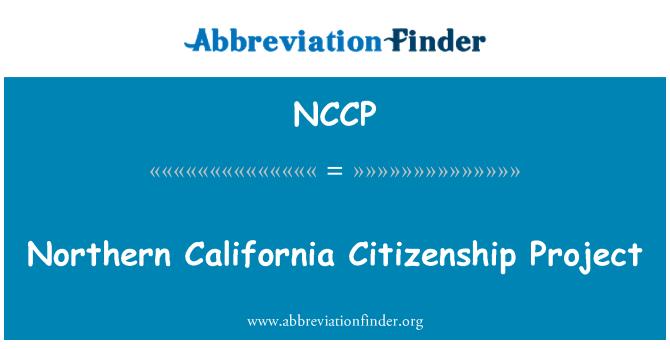 NCCP: Proyecto de ciudadanía del norte de California