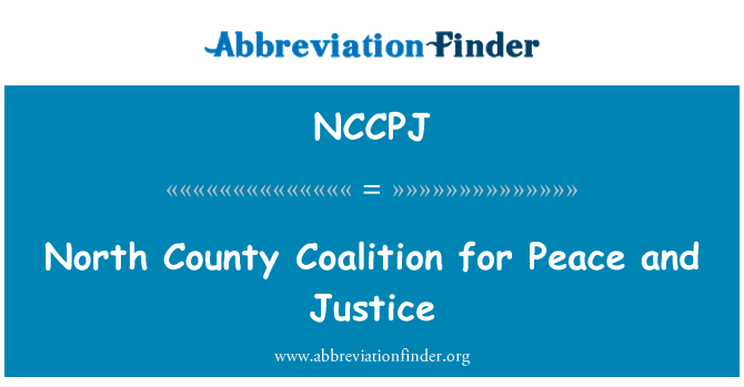 NCCPJ: North County Coalition for Peace and Justice