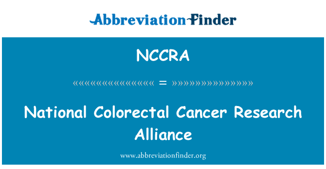NCCRA: National Colorectal Cancer Research Alliance