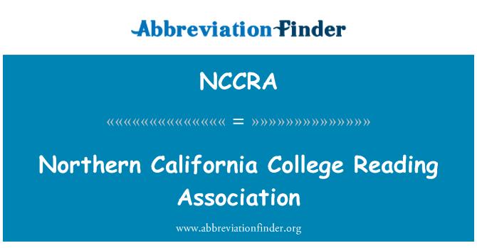 NCCRA: Norte de California College Reading Association