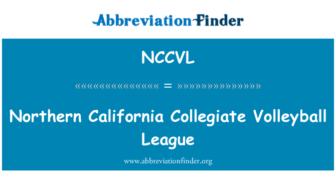 NCCVL: Northern California Collegiate Volleyball League