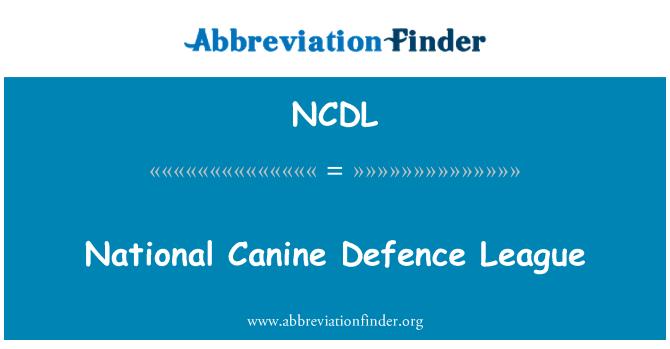 NCDL: Liga Nacional de defensa canina