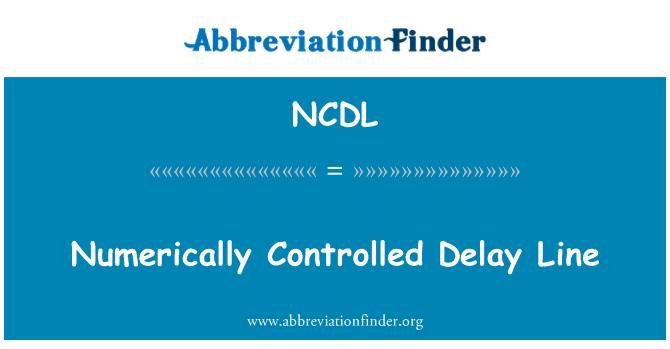 NCDL: Línea de retardo control numérico