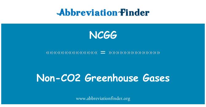 NCGG: Non-CO2 Greenhouse Gases