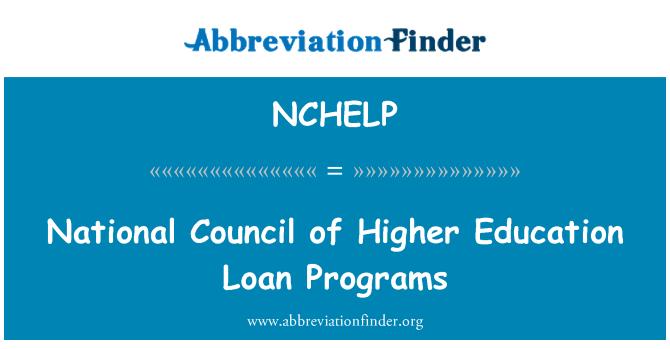 NCHELP: Consejo Nacional de educación superior programas de préstamos