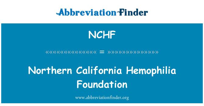 NCHF: Northern California Hemophilia Foundation