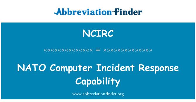 NCIRC: NATO Computer Incident Response Capability