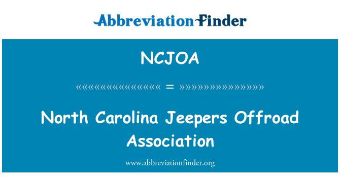 NCJOA: North Carolina Jeepers Offroad Association