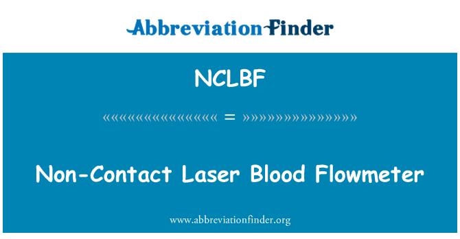NCLBF: Non-Contact Laser Blood Flowmeter