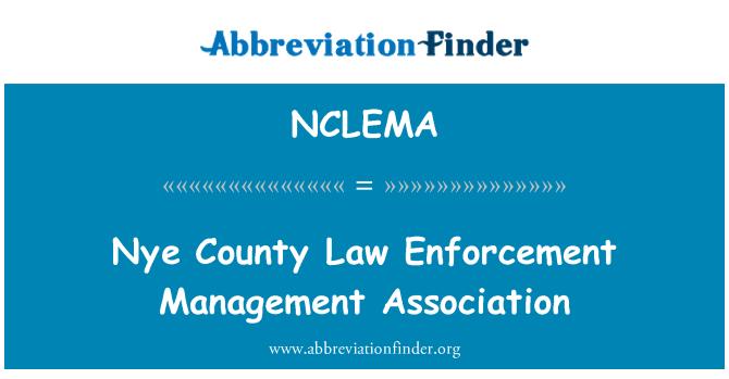 NCLEMA: Nye County Law Enforcement Management Association