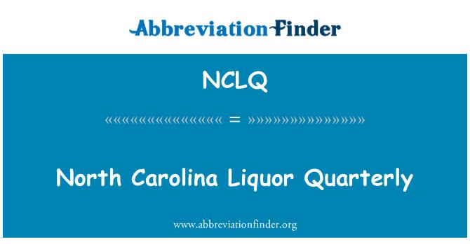 NCLQ: North Carolina Liquor Quarterly