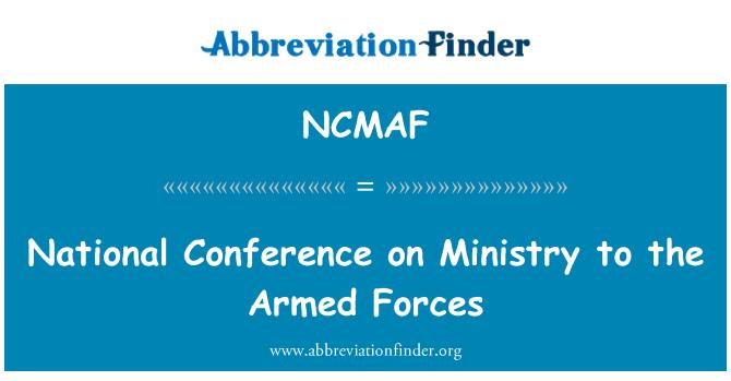 NCMAF: Silahlı Kuvvetler Bakanlığı Ulusal Konferansı