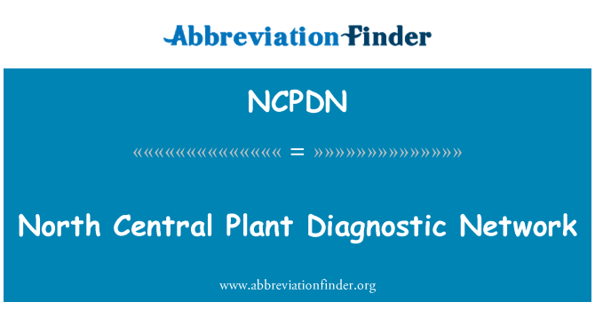 NCPDN: North Central Plant Diagnostic Network