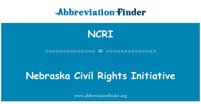 NCRI: Nebraska insan hakları girişimi