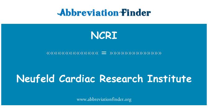 NCRI: Neufeld kalp Araştırma Enstitüsü
