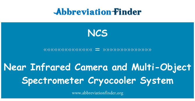 NCS: Near Infrared Camera and Multi-Object Spectrometer Cryocooler System