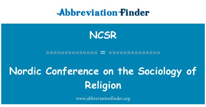 NCSR: Conferencia nórdica sobre la sociología de la religión