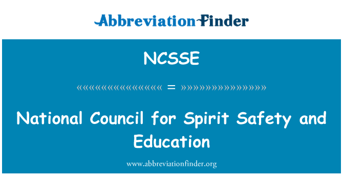 NCSSE: National Council for Spirit Safety and Education