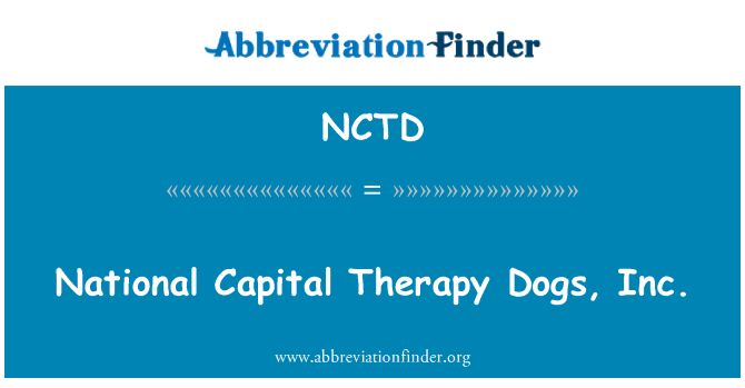 NCTD: National Capital Therapy Dogs, Inc.