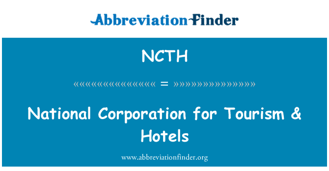 NCTH: National Corporation for Tourism & Hotels