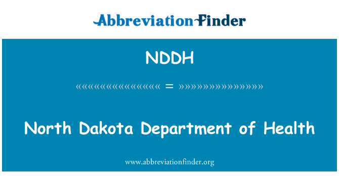 NDDH: North Dakota Department of Health
