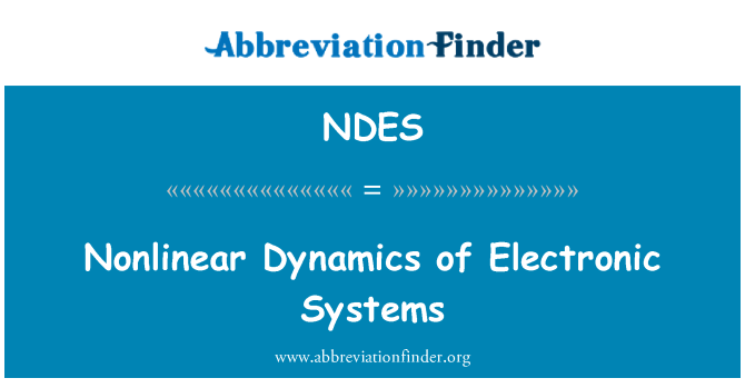 NDES: Nonlinear Dynamics of Electronic Systems