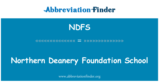 NDFS: Northern Deanery Foundation School