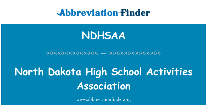 NDHSAA: 北达科塔州高学校活动协会