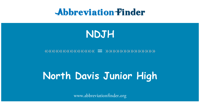 NDJH: North Davis Junior High