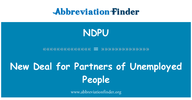 NDPU: New Deal for Partners of Unemployed People