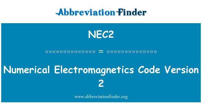 NEC2: Numerical Electromagnetics Code Version 2