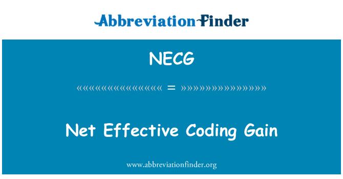 NECG: 净有效编码增益