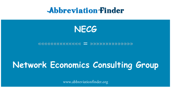 NECG: Network Economics Consulting Group
