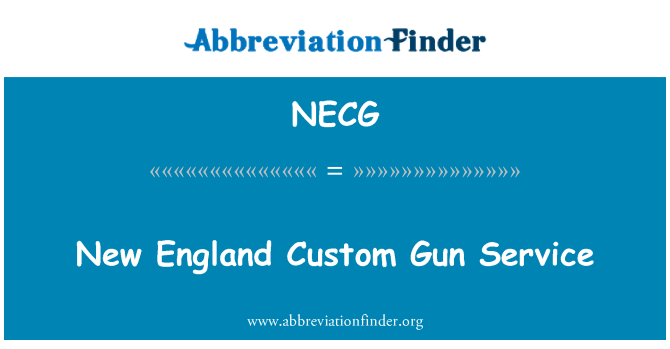 NECG: New England Custom Gun Service
