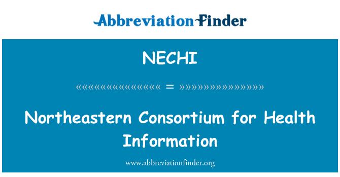 NECHI: Northeastern Consortium for Health Information