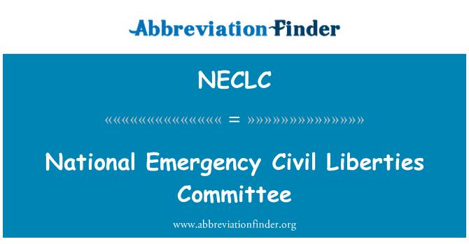 NECLC: National Emergency Civil Liberties Committee